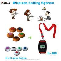433mhz restaurant wireless service calling system show different type of table service