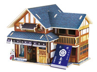 Wholesale DIY 3D wooden toy house Japan Tea House made in China