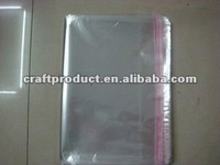 OPP plastic bag /clear self adhesive seal plastic bag /resealable bag