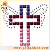 Cross crystal rhinestone embellishments for cloth