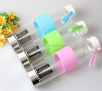 550ml food grade water bottle plant empty packing water sport reusable bottle with filter and lid