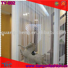 100% polyester chainette metallic string thread curtain for home decoration