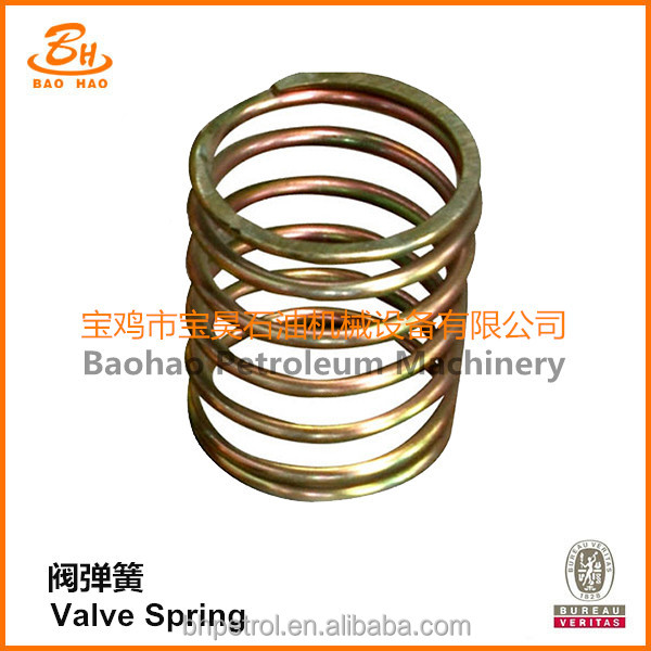 Stainless Steel Valve Spring For Mud Pump Expendables Fluid End