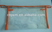Transparent pvc bag with nylon zipper top