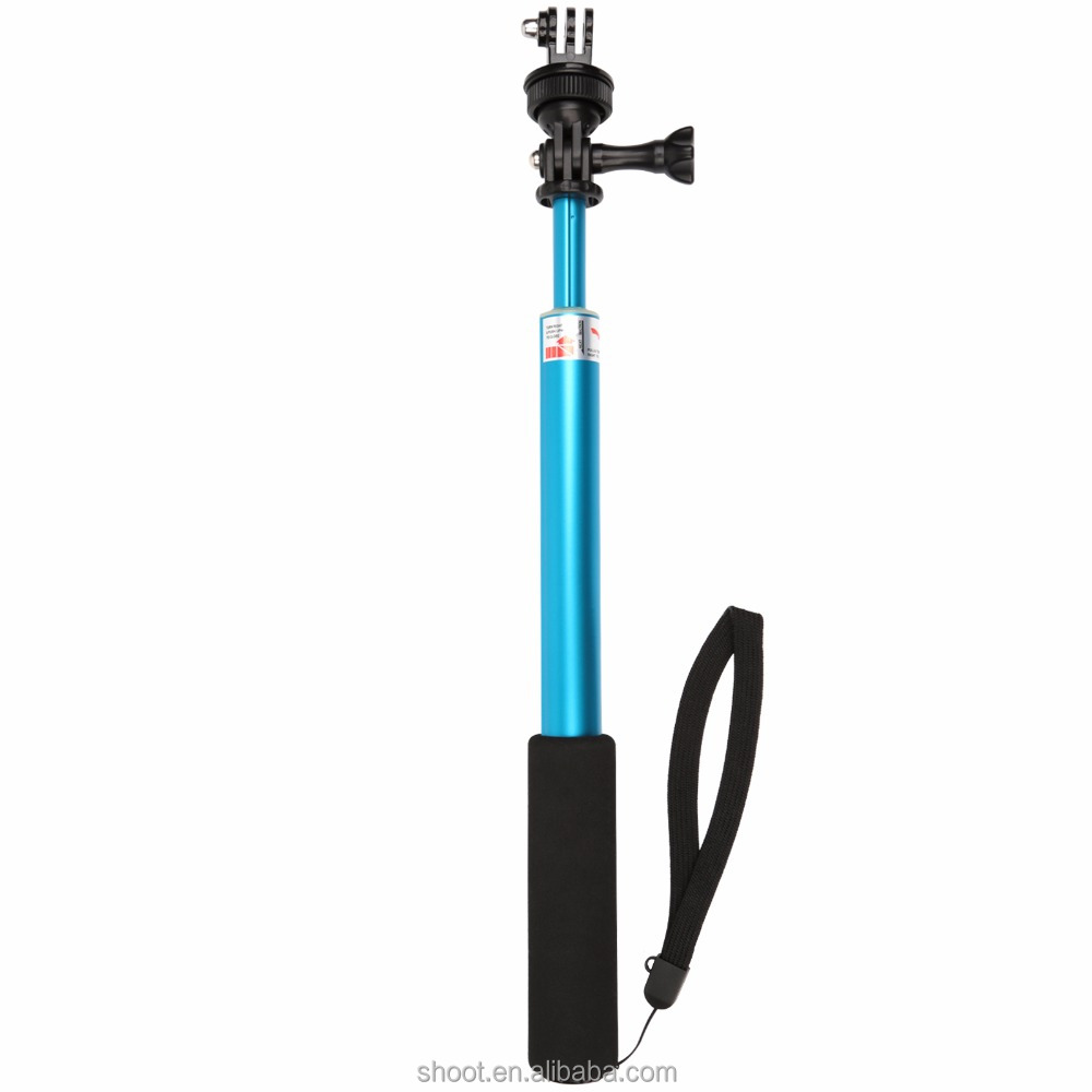 Extendable monopod selfie stick without phone holder and adapter for gopro for Go Pro hero 5 4 action camera
