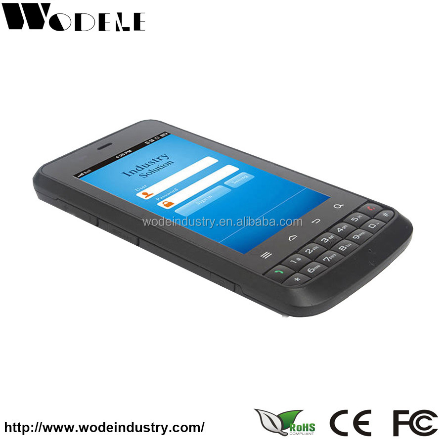 1D Barcode scanner, 13.56MHZ HF RFID Reader, GPS, Wi-Fi/GPRS wireless Rugged Handheld PDA