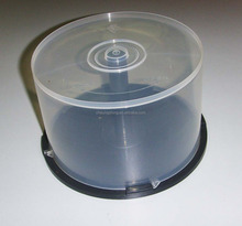 pp plastic cd/dvd clear cake box for 50pcs