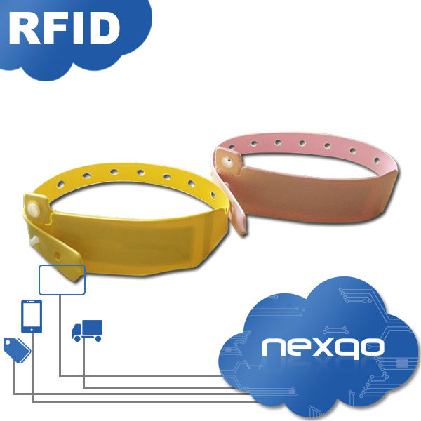 Hot sale silicone wristband smart rfid waterproof for marathon event