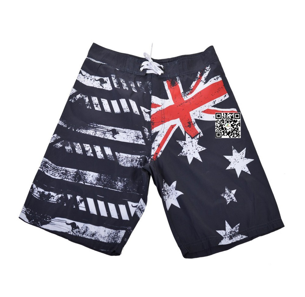 OEM quick drying Australian flag board shorts