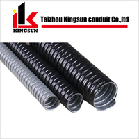 PVC coated corrugated electrical flexible conduit cable