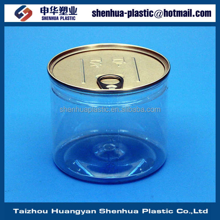 450ml 550ml 800ml PET easy open can 19oz 28oz plastic food can