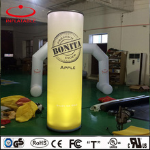 outdoor inflatable LED light column for advertising