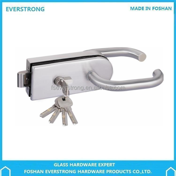Everstrong ST-G011 single glass door lock with rotatable handle
