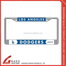 chroming zinc plastic car license plate frame