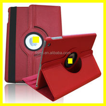 For Apple iPad 5 360 Rotating Magnetic lichi pattern PU Leather Case Smart Cover Stand Red