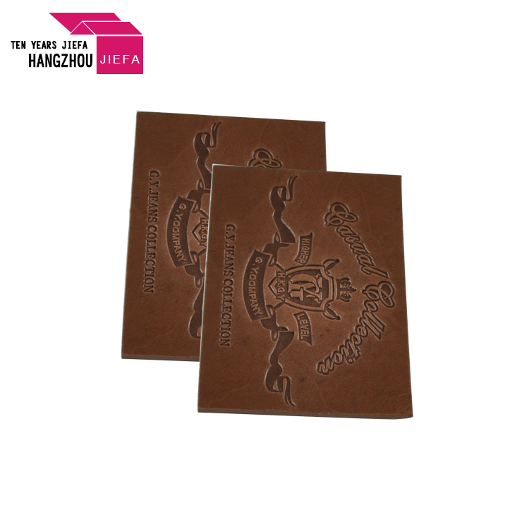Hot Selling Custom Embossed Leather Label For Garment