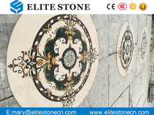Round Flower Marble Stone Waterjet/Medallion Pattern Inlay for Floor/Waterjet marble medallion