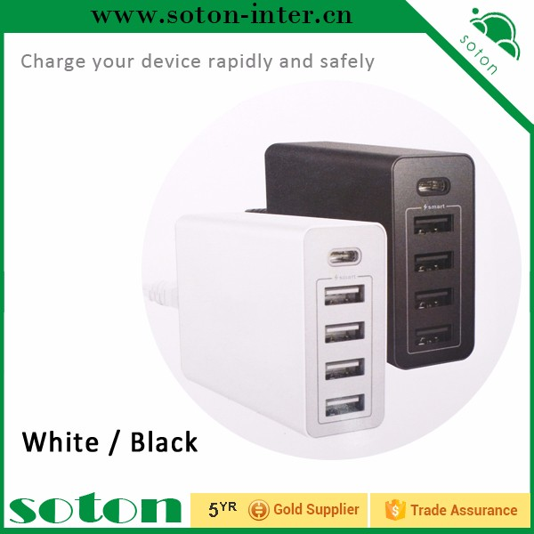 Universal Portable 5V 5 Port Hub Desktop Wall Charger Multi Port Rapid Adapter US Plug Travelling/Home Charger