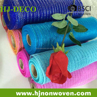 home decorative material plastic pp mesh for floral packaging