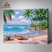 hotsale high quality diy oil painting by numbers for home decoration digital painting