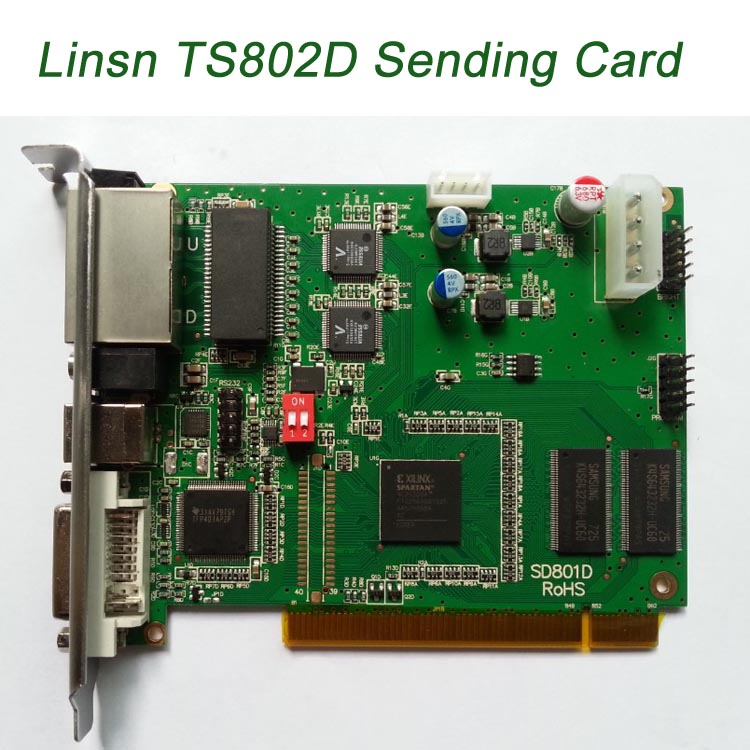 Synchronous LED Display Control Card System Linsn TS 802 TS 901 Sending Card Box RV908 Receiving Card Lowest Price In China