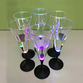 Bar Accessories Hot Sales Plastic Led Flashing Cup Led Champagne Glass