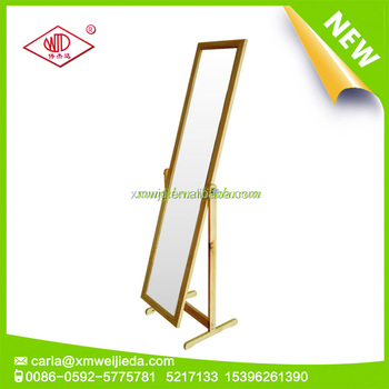 Cheap full length standing stylish wooden dressing mirror design