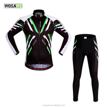 Wosawe Breathable Digital Printed Body Building Cycling Jersey Polyester Mesh Quick Dry Mountain Bike Wear