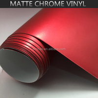 UK EU Standard 1.52*20m 3M Red Chrome Vinyl Film