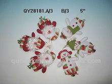Plush santa snowman cristmas ornament decoration for tree with a mini bell