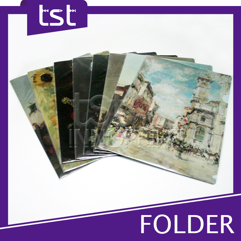 Stationery Paper Folder A4 Document PP Plastic File Folder