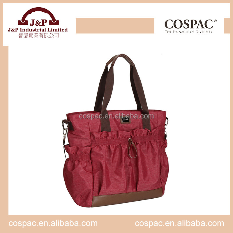 Promotion wholesale fashion baby diaper bag for mummy