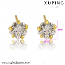 92153 xuping costume jewelry gold crystal bead stud earring women