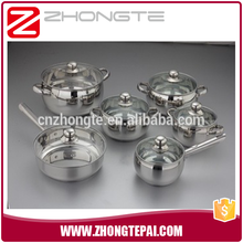 promotional stainless steel cooking pot cookware set