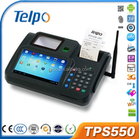 New Technology TPS550 android rfid card reader for consumption Biometrics pos machine