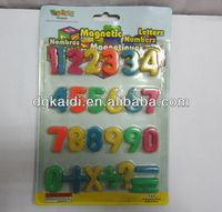 Plastic magnetic numbers/letters