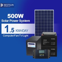 New Design 3W LED light solar power system for home for Pakistan 500W