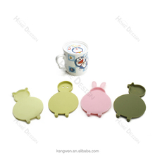 fashion boy shaped custom silicone cup coaster