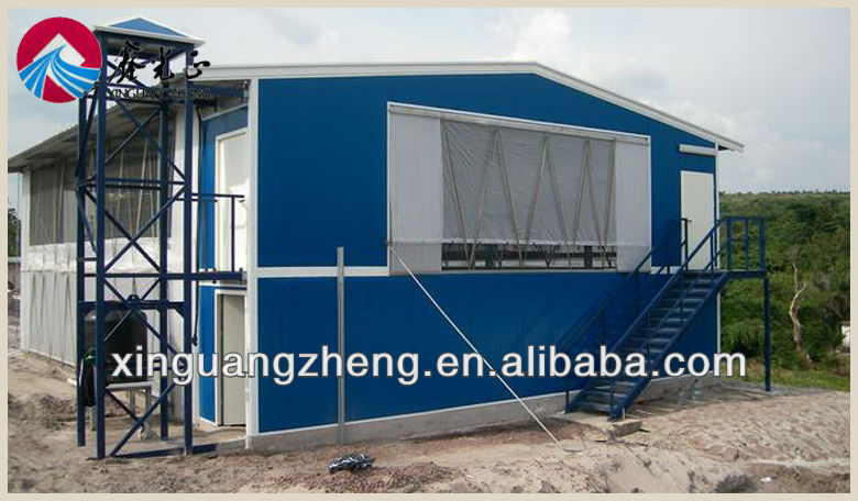 2 floor high quality light chicken house with equipemt broiler for sale