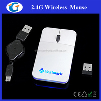 2.4 GHz Ultra-thin USB Optical Cordless Wireless Scroll Mouse For PC Laptop NEW