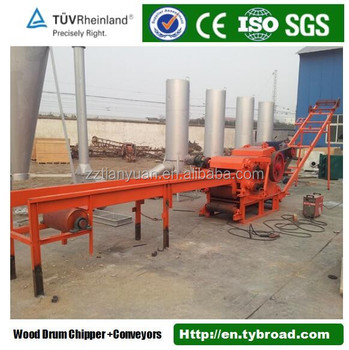 PTO driven mobile drum wood chipper for tree ,branch,log cutting