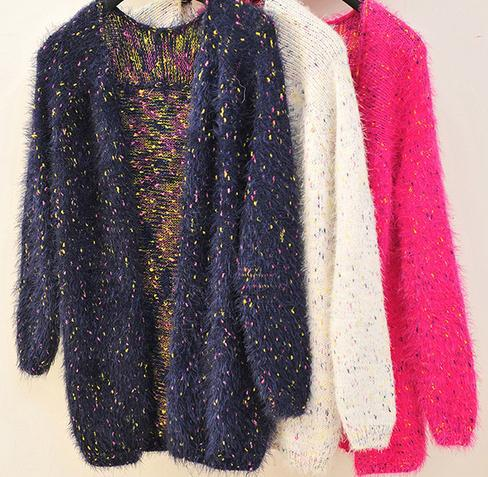 2015 Top selling products ladies mohair cardigan wholesale clothing loose knitwear women fullly fashion sweaters