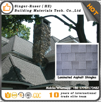 Waterproofing-underlayment Laminated Johns Manville Shingles Asphalt Painted Roofing Tiles colourful bitumen shingle