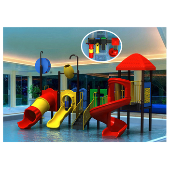 Professional customized cheap slides outdoor playground water park HF-G142B