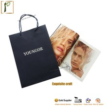 Popwide customized top quality cheap promotional waterproof portable disposable eco-friendly gift kraft paper bag