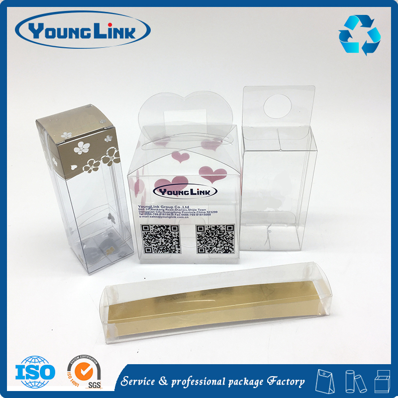 Wholesale transparent nail polish pvc packing box plastic box pvc cosmetic box