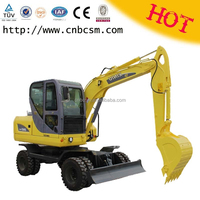 6 ton mini wheel hydraulic digger excavator for sale with best cheap wholesale price