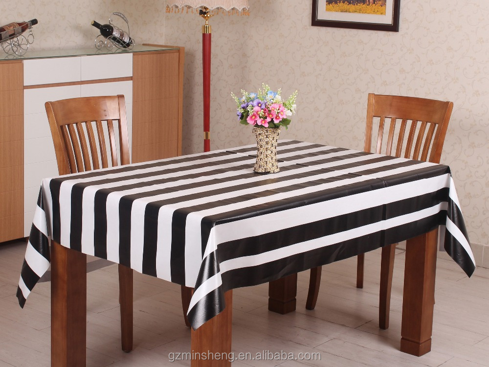 Friendly Plastic Printed Colorful Table cloth Waterproof PVC table runner