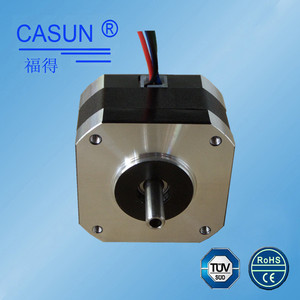 High precision 0.005 accuracy 2 phase direct wire 42mm step motor 0.9 deg. 42bygh stepper motor nema 17 0.8 a with dual shaft