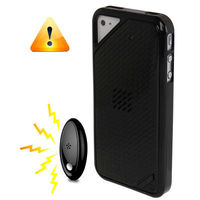 Black Frame Geometric Pattern Plastic Case with Anti-theft Alarm for iPhone 4 / 4S (Black)